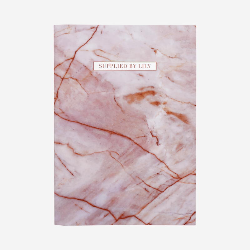 A4 Grid Notebook in Luxurious Rose Quartz