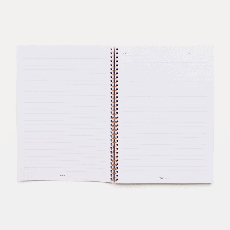 Supplied by Lily A4 Spiral Notebook in Luxurious Amethyst
