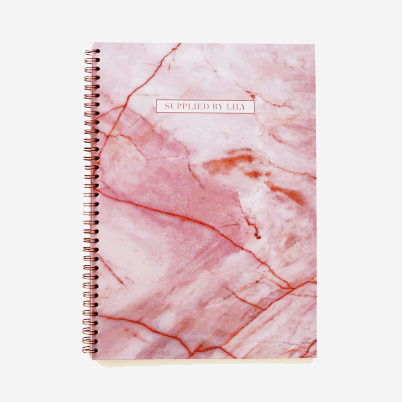 A4 Spiral Notebook in Luxurious Rose Quartz