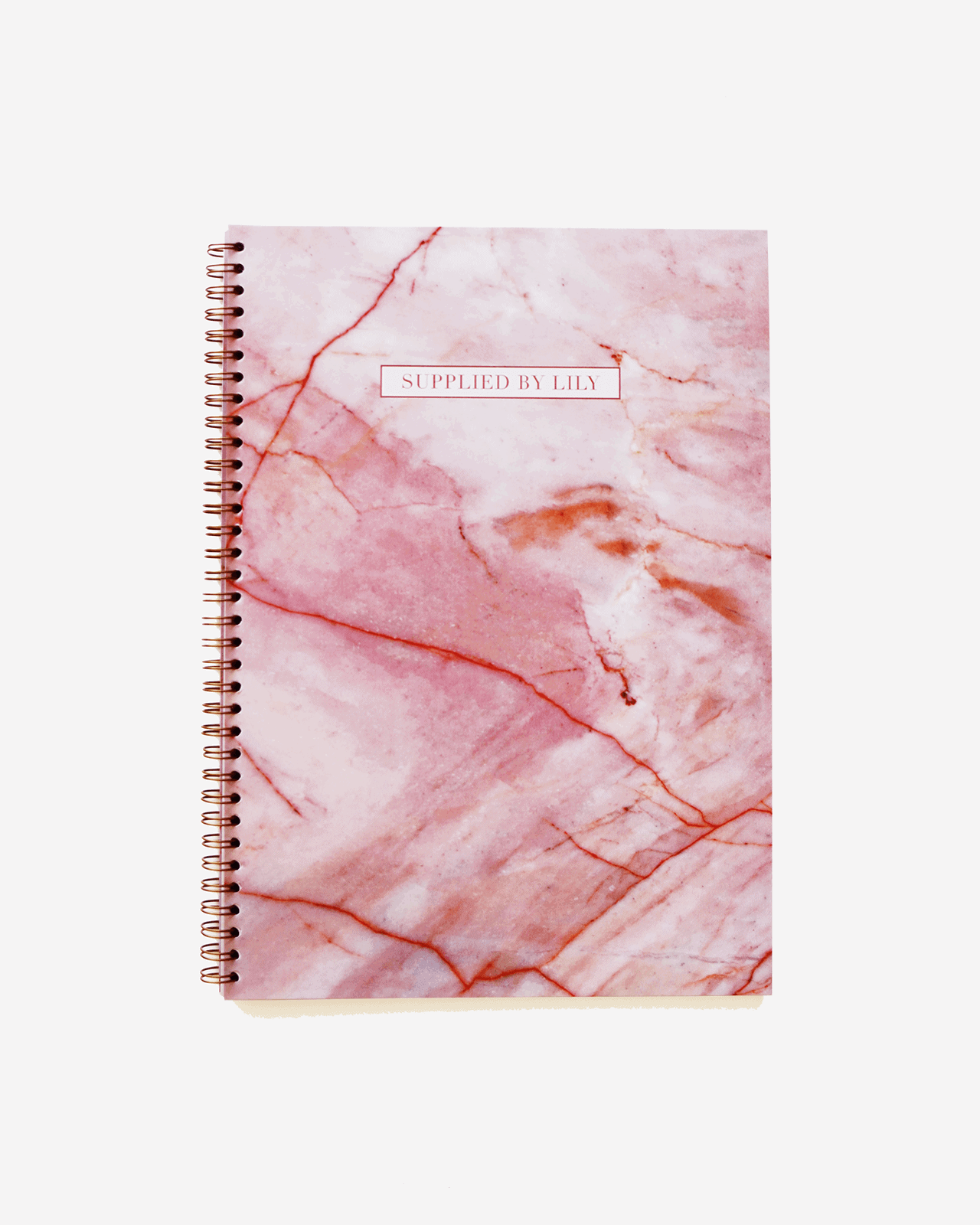 Supplied by Lily A4 Spiral Notebook in Luxurious Rose Quartz