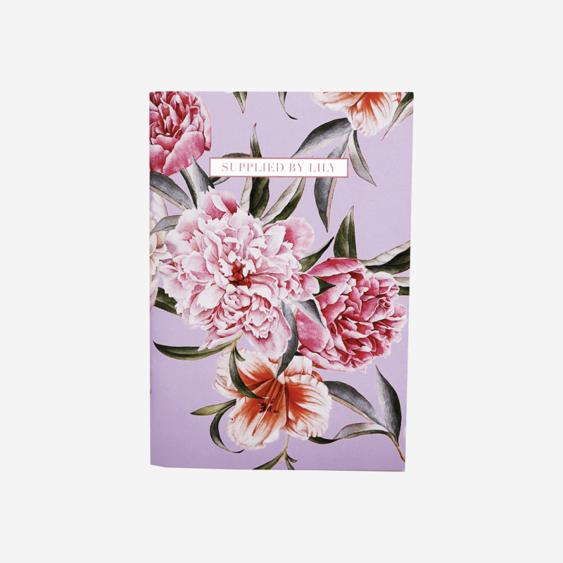 A5 Notebook in Luxurious Lilac Floral