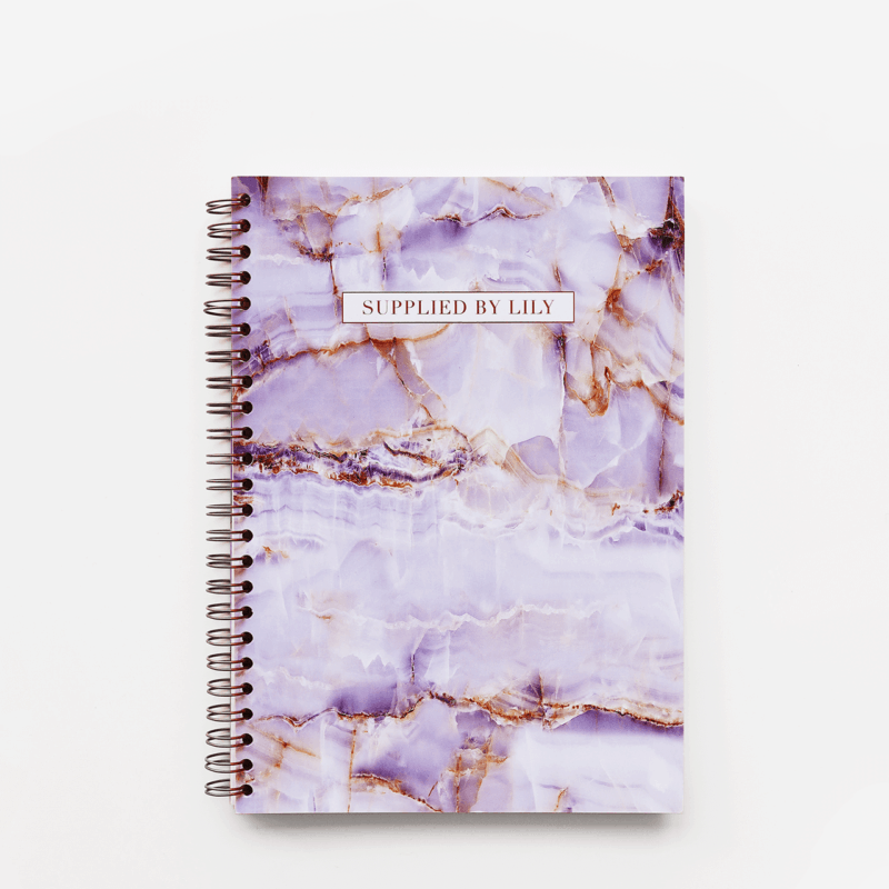 A5 Spiral Notebook in Luxurious Amethyst
