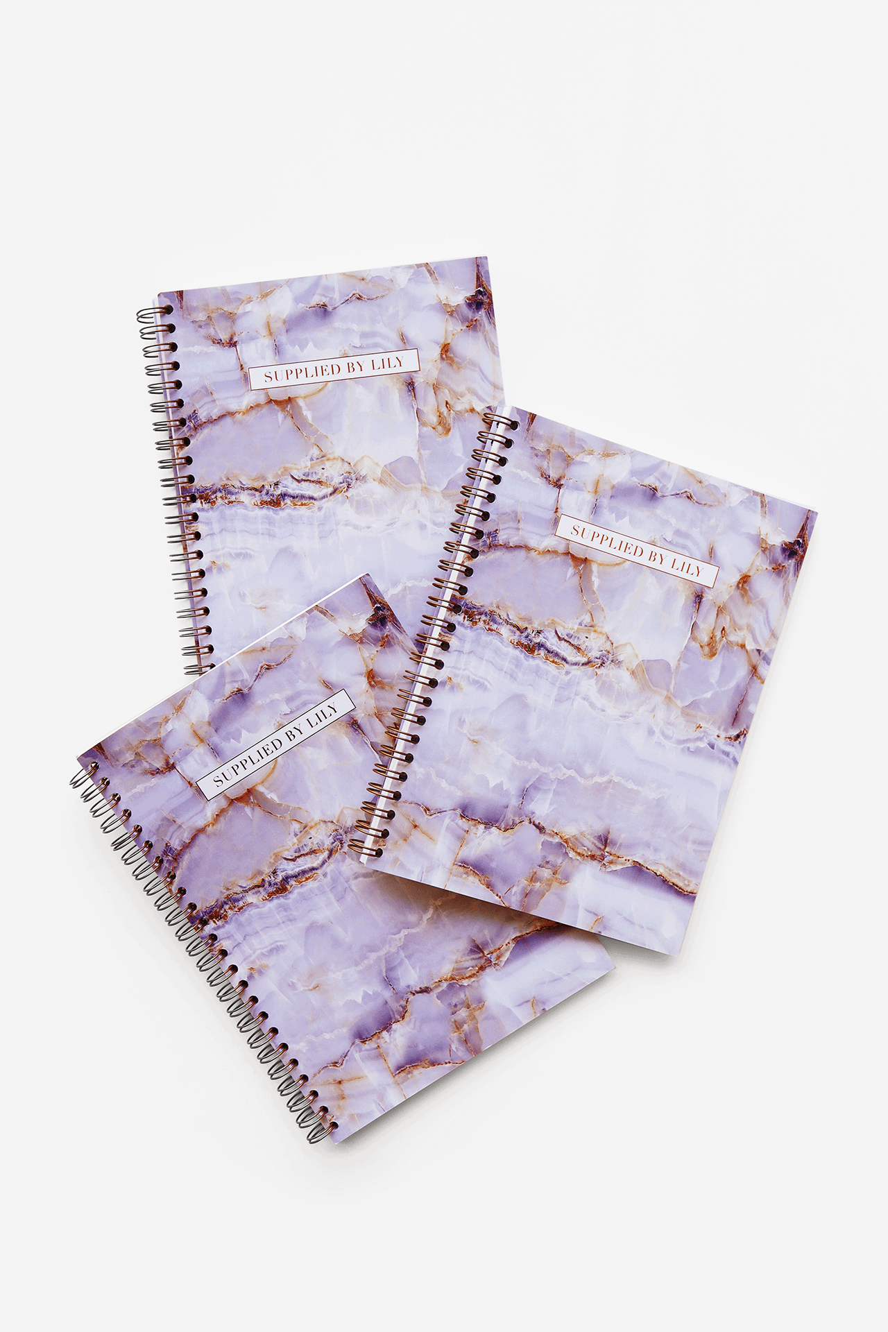 Supplied by Lily A5 Spiral Notebook in Luxurious Amethyst