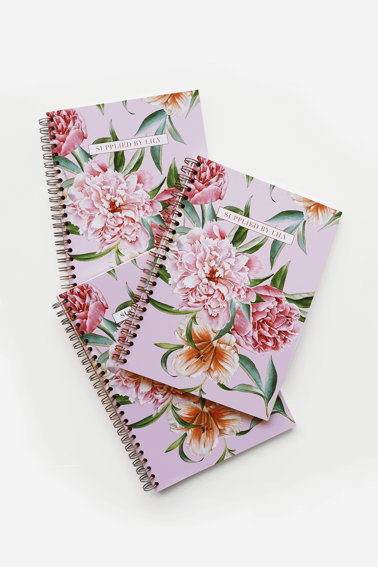 Supplied by Lily A5 Spiral Notebook in Luxurious Blush Pink
