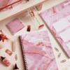 A5 Spiral Notebook in Luxurious Rose Quartz