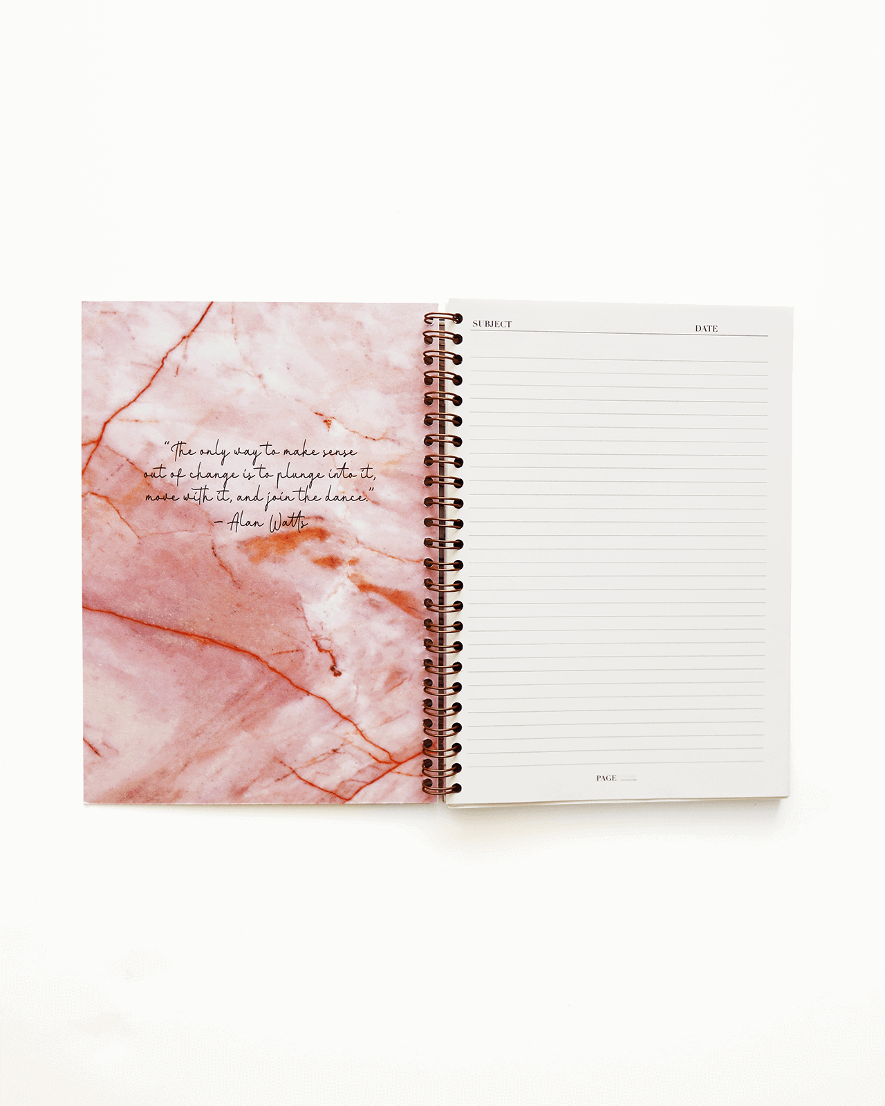 Supplied by Lily A5 Spiral Notebook in Luxurious Rose Quartz