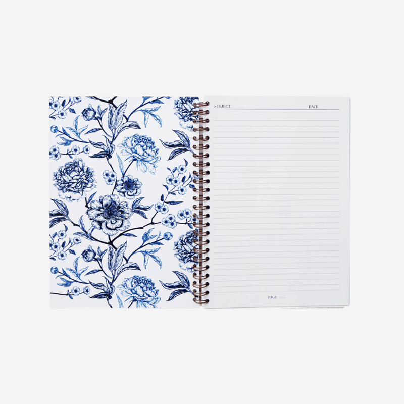 Supplied by Lily A5 Spiral Notebook in Luxurious Toile de Jouy