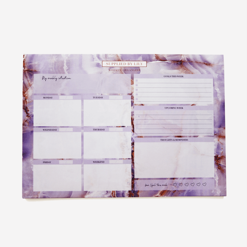 Desk Note Pad in Luxurious Amethyst