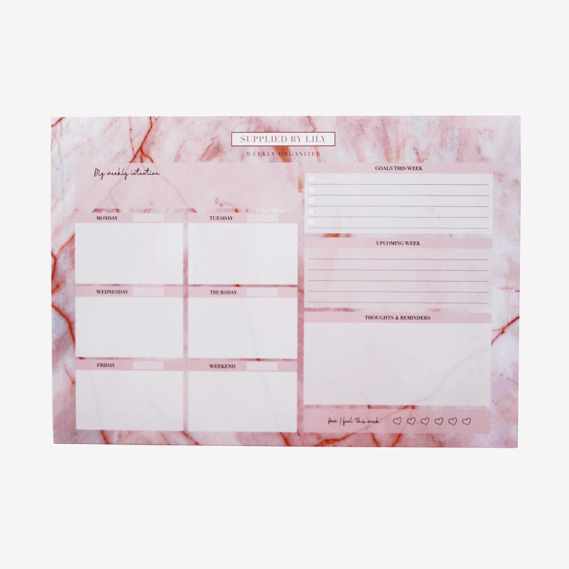 Desk Note Pad in Luxurious Rose Quartz
