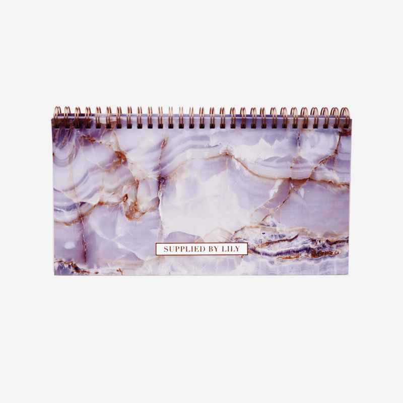 Lifestyle Desk Planner in Luxurious Amethyst