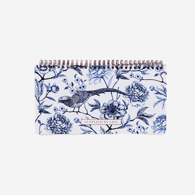 Lifestyle Desk Planner in Luxurious Toile de Jouy