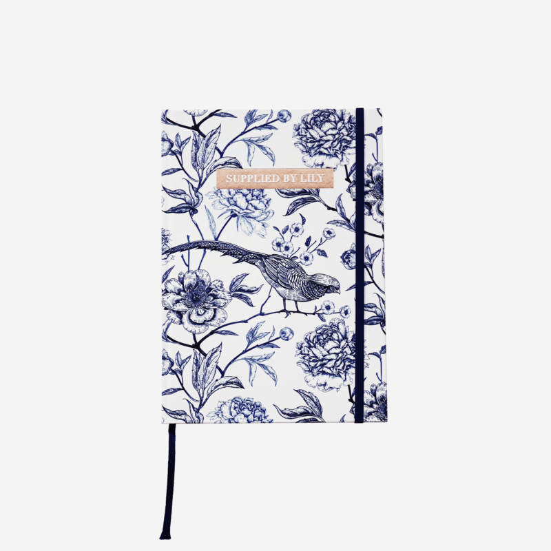 Diary Notebook in Luxurious Toile de Jouy