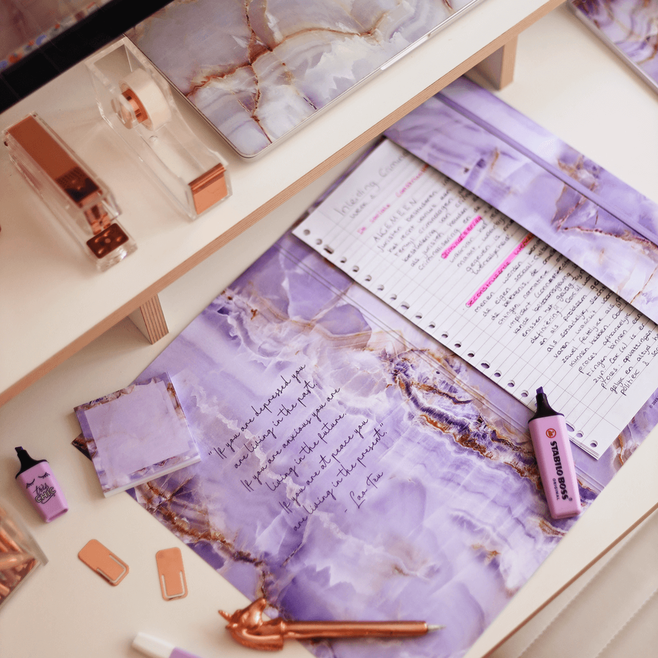 Supplied by Lily Document Folder in Luxurious Amethyst