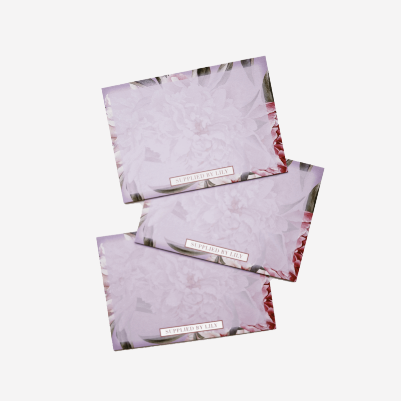 Flashcards Set in Luxurious Lilac Floral (50 pcs)