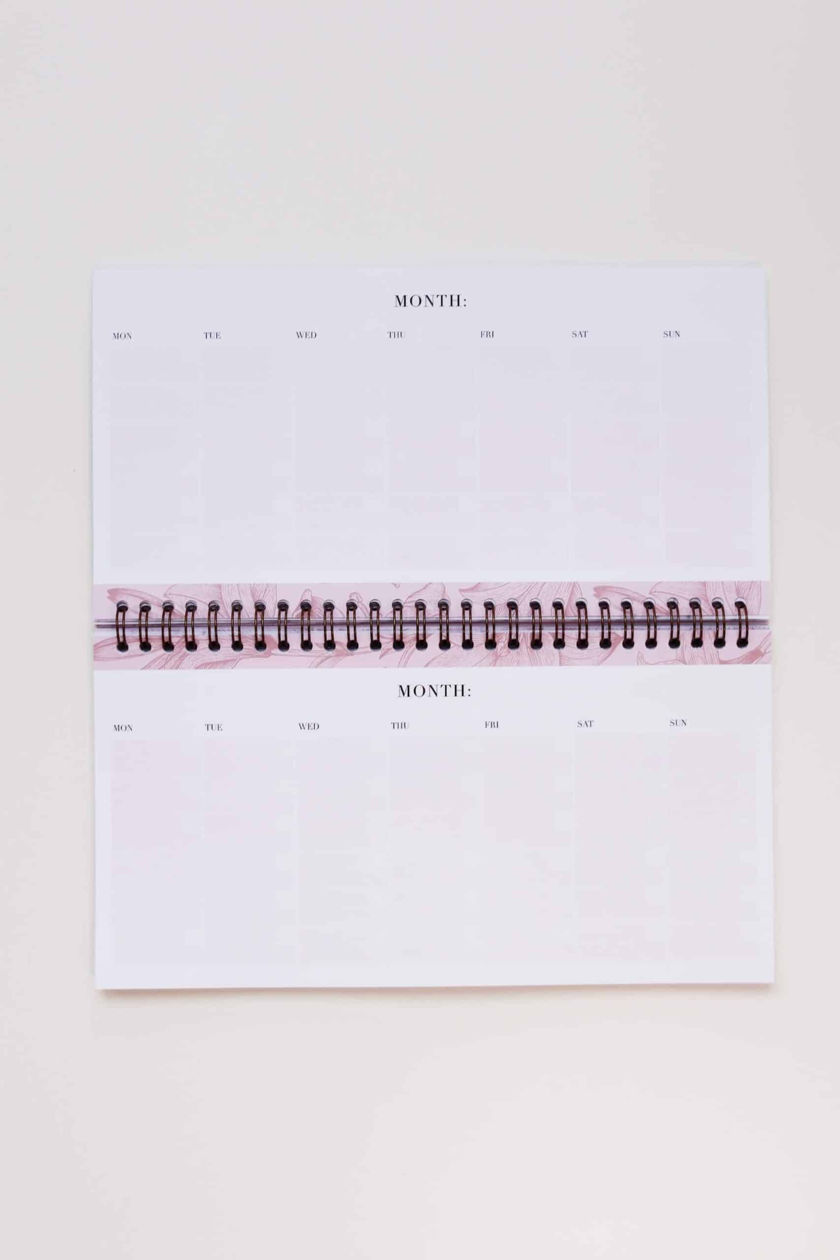 Supplied by Lily Lifestyle Desk Planner in Luxurious Rose Gold