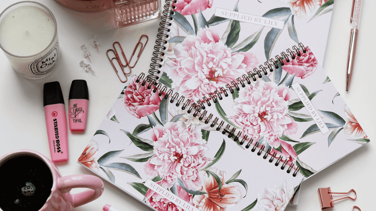 Inspiration supplied by lily luxury lifestyle student stationery supplied by lily luxury student stationery in luxurious blush floral izmirmasajfo
