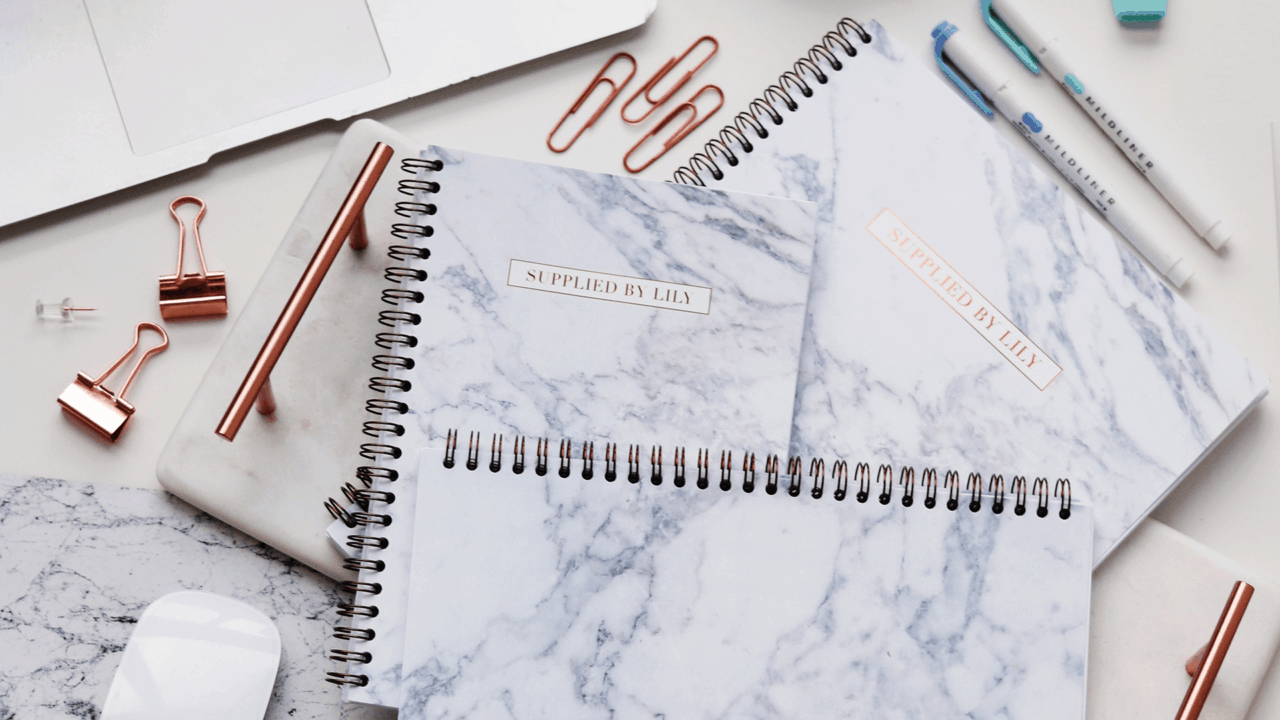 Supplied by Lily Luxury Student Stationery in Luxurious Marble
