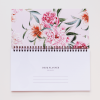 Student Desk Planner in Luxurious Blush Floral