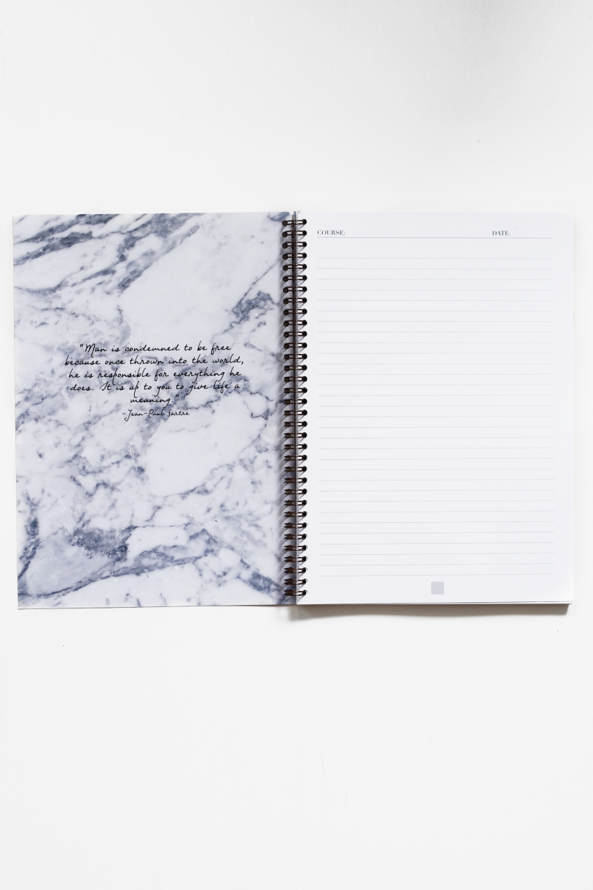SuppliedbyLily_Supplied by Lily Luxury Student StationeryMarbleSpiralNotebook_Open