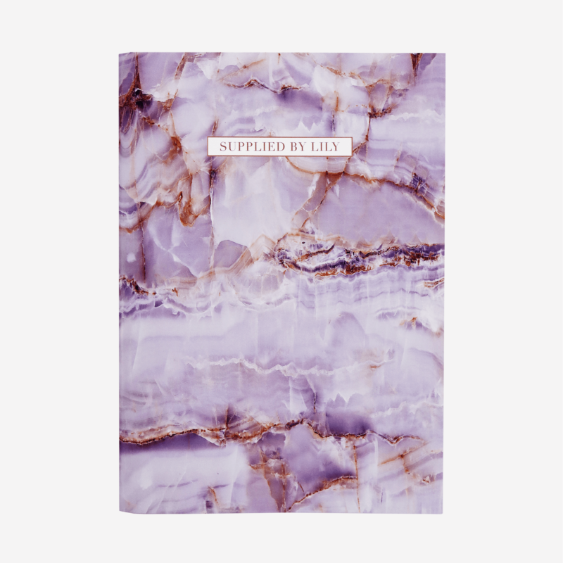 A4 Grid Notebook in Luxurious Amethyst