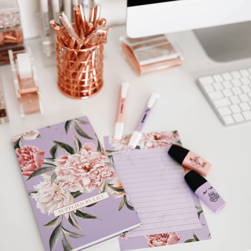 To Do List in Luxurious Lilac Floral