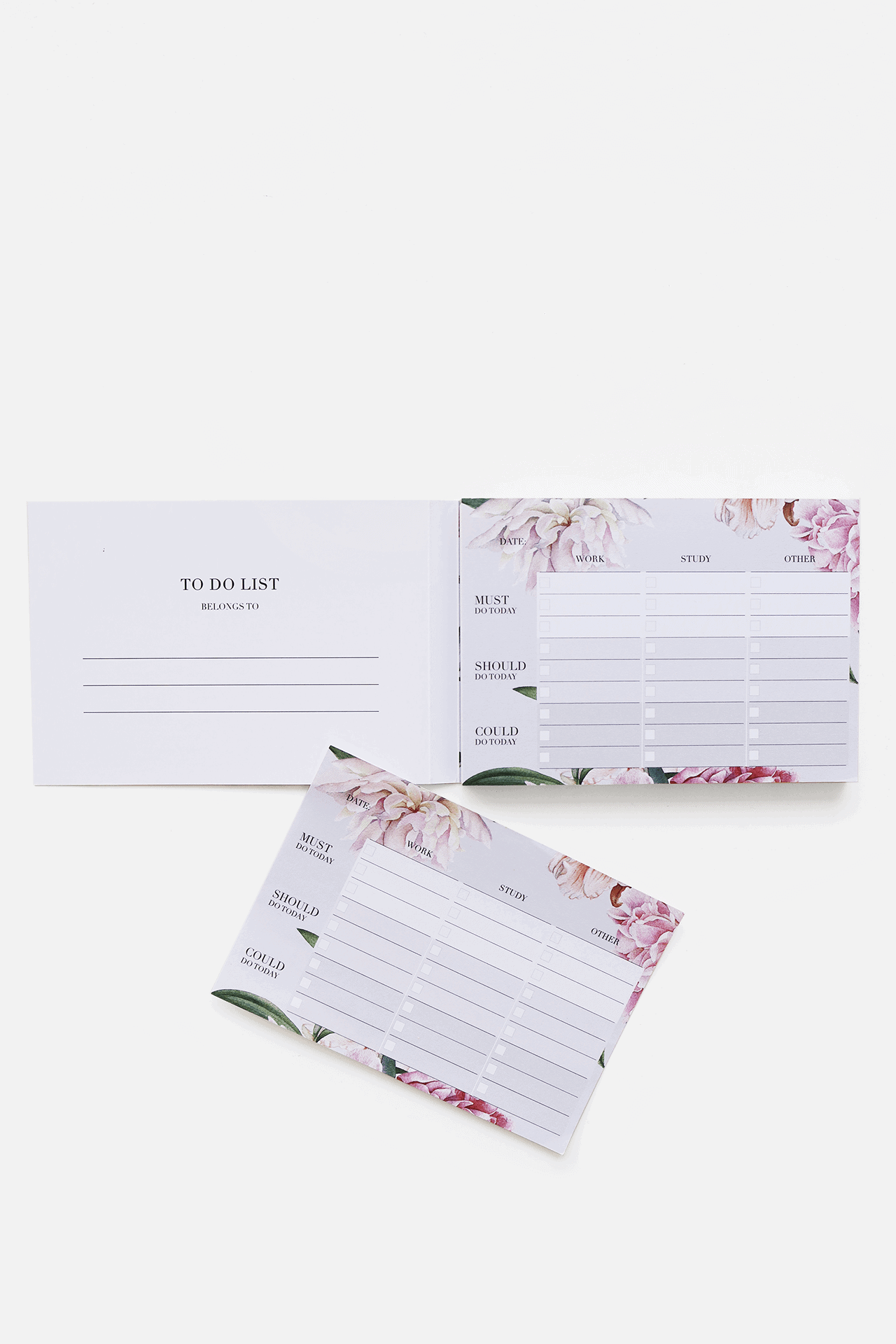 Supplied by Lily Luxury Student Stationery To Do List in Luxurious Floral